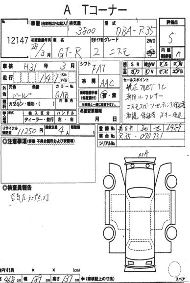 Nissan GTR Specification