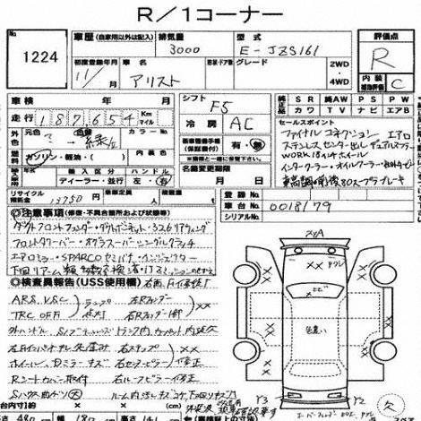 Toyota Aristo Specification