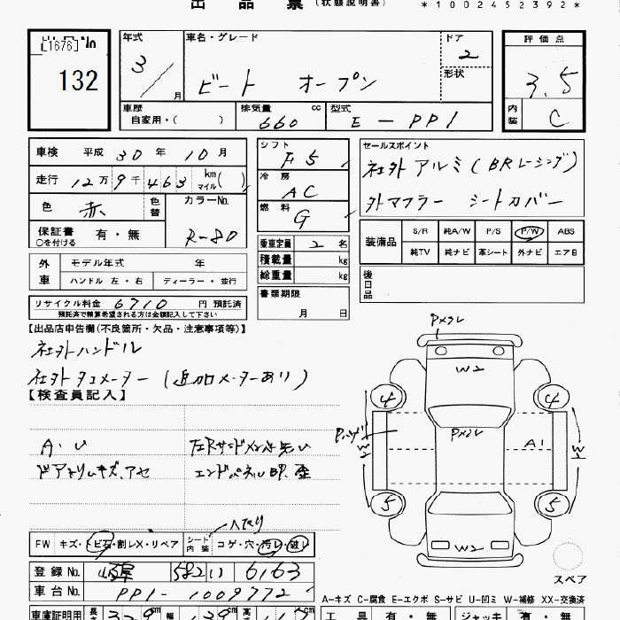 Honda Beat Specification