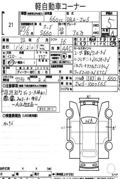 Honda S660 Specification