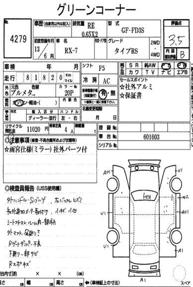 Mazda Rx-7 Specification