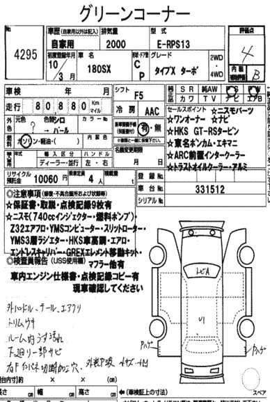 Nissan 180 Sx Specification