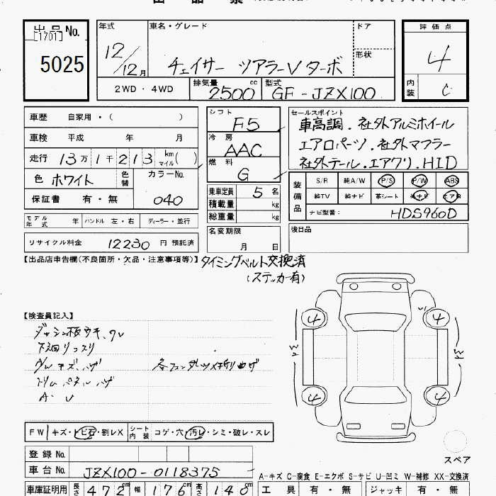 Toyota Chaser Specification