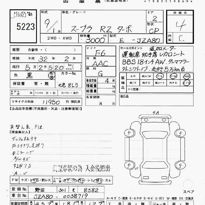 Toyota Supra Specification