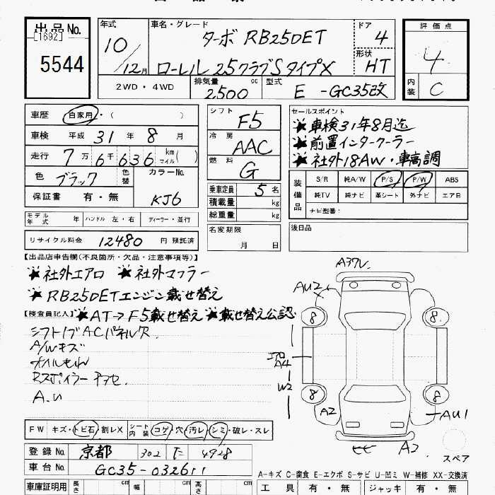 Nissan Laurel Specification