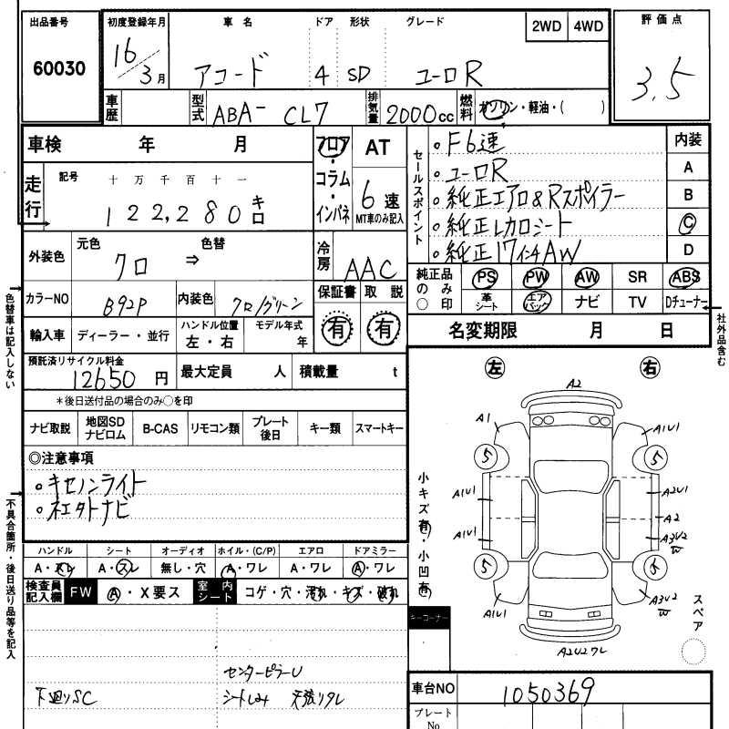 Honda Accord Specification