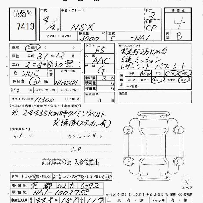 Honda Nsx Specification