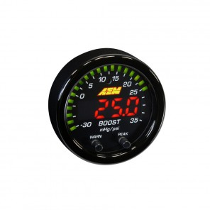 AEM X-Series Boost Pressure Gauge 15PSI / 1BAR