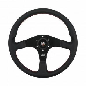 Mugen Racing III Steering Wheel - Leather