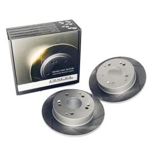 Dixcel SD Slotted Brake Discs - Front - Civic EK9 / Integra DC2 ('98)