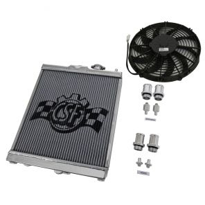 CSF Aluminium Race Radiator and Fan Kit (Half Size) - Evo 7-9, Civic ('92-'00)