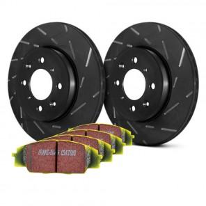 EBC Disc and Pad Kit - Impreza WRX STI GDB (5x114.3 PCD) - Rear - EBC Yellowstuff (Fast Road/Light Track) - USR Slotted