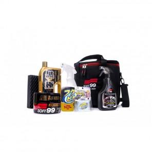 Soft99 Basic Detailing Kit & Bag - Dark Colours