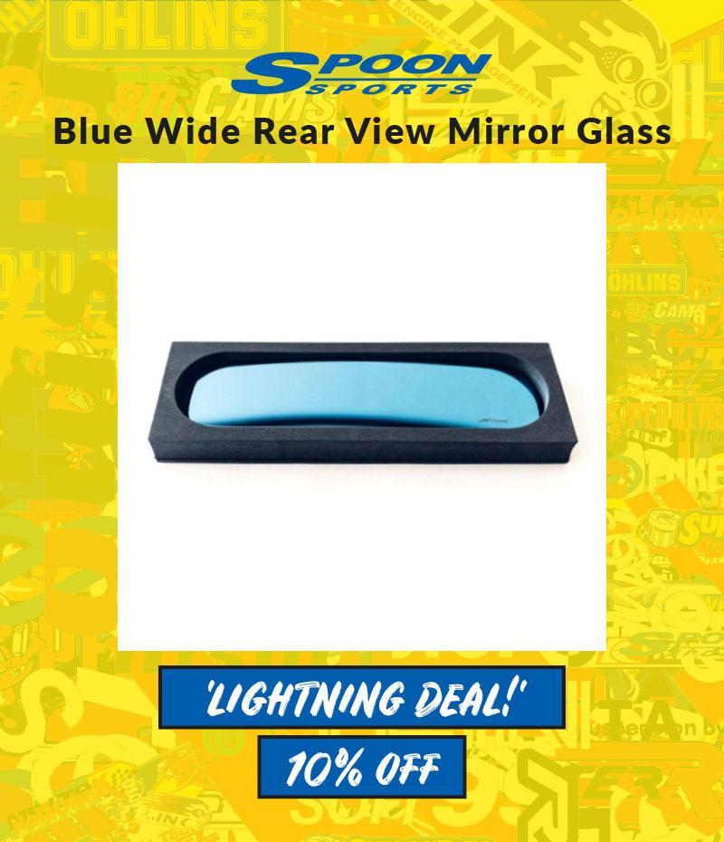 fits Honda Civic FD2 Spoon Sports Blue Wide Rear View Mirror Glass EP3 FN2